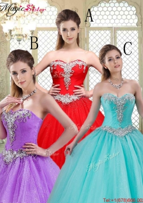 Elegant Sweetheart Brush Train 2016 Prom Dresses with Beading