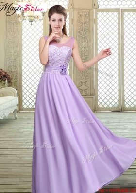 2016 Best Scoop Lace Bridesmaid Dresses in Lavender
