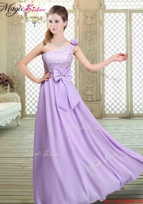 2016 Spring High Neck Lace Lavender Prom Dresses