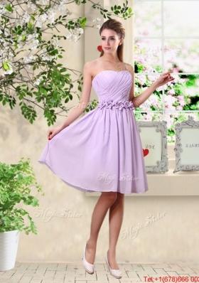 Classical A Line Appliques Bridesmaid Dresses in Lavender