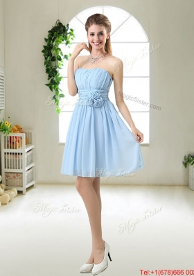 Perfect Strapless Prom Dresses with Hand Made Flowers