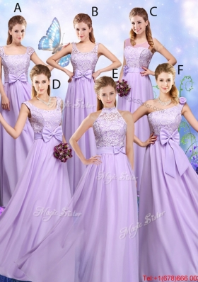 Popular Laced and Bowknot Bridesmaid Dresses with Empire - US$143.67