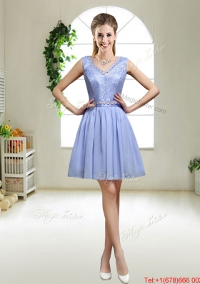 Discount V Neck Dama Dresses with Appliques and Sequins