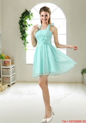 Wonderful Hand Made Flowers Bridesmaid Dresses in Apple Green
