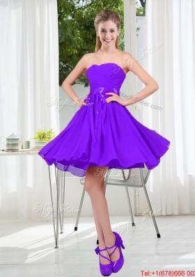 2016 Fall A Line Sweetheart Prom Dress in Purple