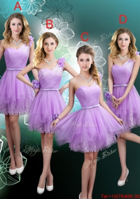 Cheap Hand Made Flowers Bridesmaid Dresses with One Shoulder