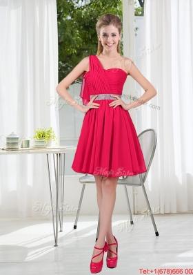 Elegant One Shoulder Short Prom Dresses for Wedding Party