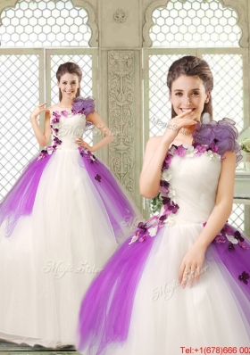 Pretty Appliques and Ruffles Quinceanera Gowns in Multi Color