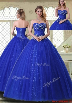 Pretty Ball Gown Sweetheart Quinceanera Dresses in Royal Blue