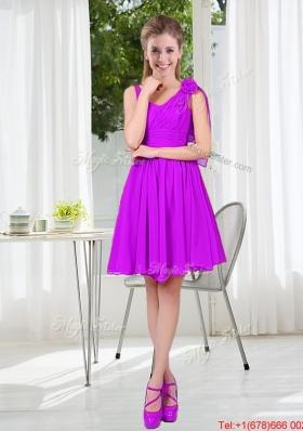 Custom Made A Line Straps Short Bridesmaid Dresses