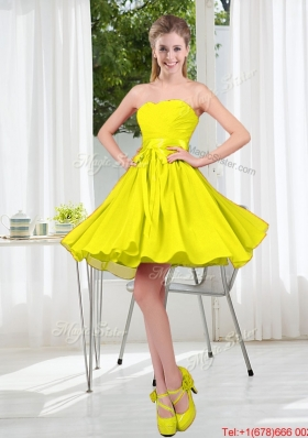 Pretty 2016 Short Bridesmaid Dresses With Sweetheart