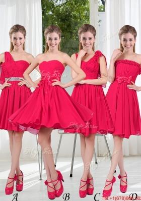 Romantic A Line Bowknot Bridesmaid Dresses in Chiffon