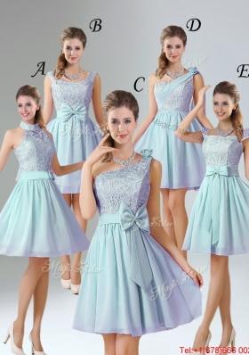 2016 Romantic A Line Lace Bridesmaid Dresses
