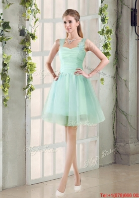 2016 Custom Made A Line Straps Prom Dresses with Ruching