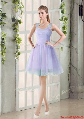 Custom Made A Line Straps Short Prom Dresses with Ruching