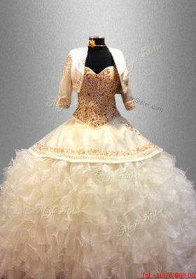 Popular Sweetheart Quinceanera Dresses with Beading and Ruffles