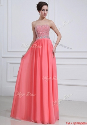 2016 Beautiful Watermelon Sweetheart Prom Dresses with Beading