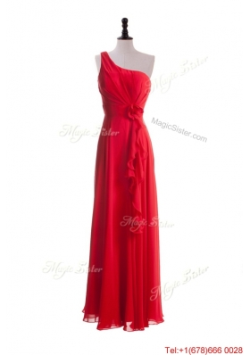 2016 Gorgeous Hand Made Flowers and Ruffles Red Prom Dresses