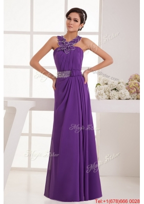 Beautiful Empire Straps Prom Dresses with Beading