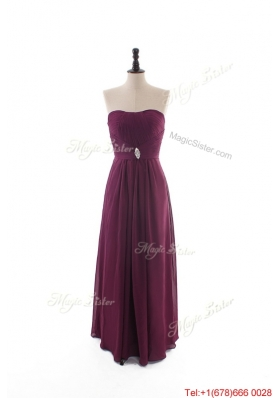 Custom Made Empire Strapless Ruching Prom Dresses with Beading