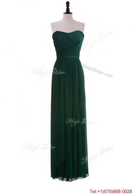 2016 Custom Made Empire Strapless Ruching Prom Dresses in Dark Green