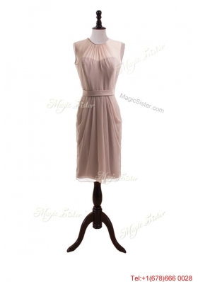 2016 Elegant Belt Short Prom Dresses with Knee Length