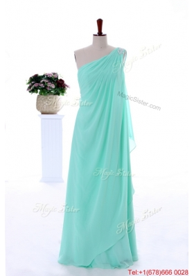 2016 Spring Vintage Empire Beaded Prom Dresses in Apple Green