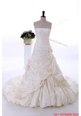 Pretty Most Popular A Line Strapless Wedding Dresses
