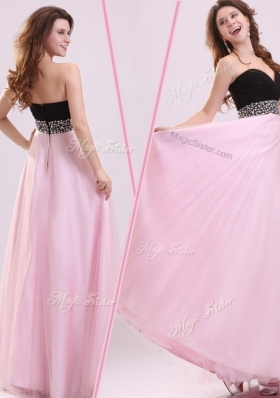 2016 Cheap Empire Sweetheart Beading Bridesmaid Dress in Baby Pink