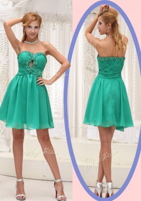Perfect Sweetheart Beading Short Bridesmaid Dress for 2016