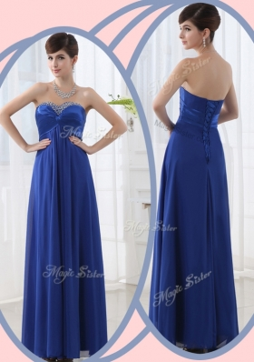 2016 Lovely Empire Sweetheart Prom Dresses with Beading