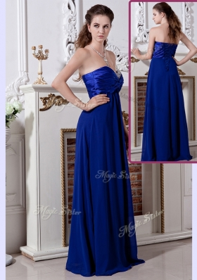 Lovely Empire Sweetheart Long Prom Dress in Royal Blue