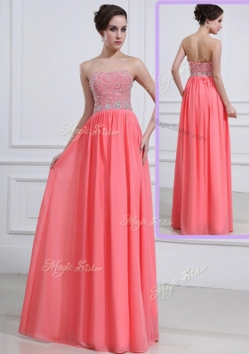 2016 Beautiful Sweetheart Watermelon Prom Dresses with Beading