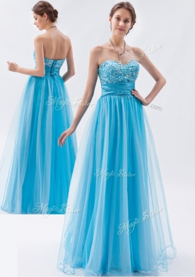 2016 Classical Empire Sweetheart Beading Prom Dresses for Pageant