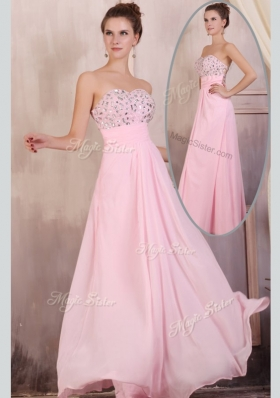 2016 Gorgeous Empire Sweetheart Beading Baby Pink Prom Dress