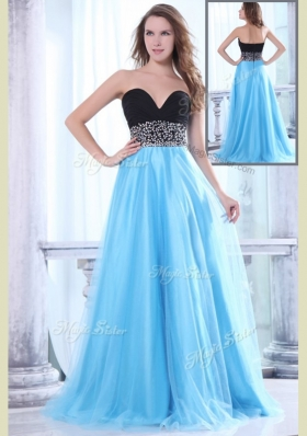 2016 Romantic Sweetheart Beading Brush Train Prom Dress for Graduation