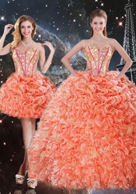 201 6Pretty Detachable Sweetheart Beading and Ruffles Quinceanera Gowns