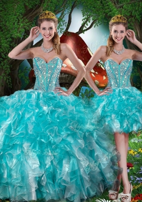 2016 Hot Sale Sweetheart Detachable Quinceanera Gowns with Beading for Summer