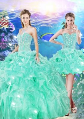 2016 Unique Ball Gown Sweetheart Detachable Quinceanera Gowns for 16 Birthday Party