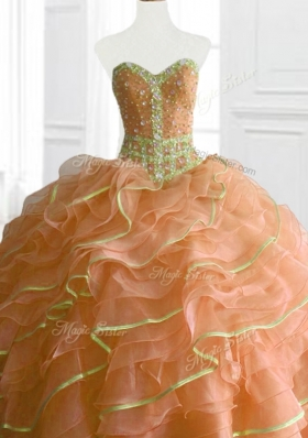 Latest Ball Gown Beading and Ruffles Sweet 16 Dresses for 2016