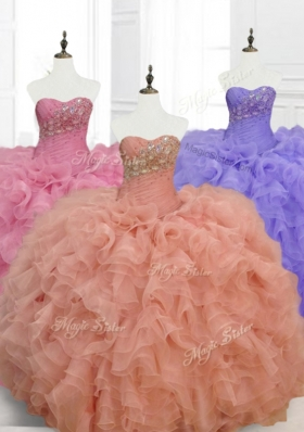 Low Price Ball Gown Sweetheart Quinceanera Dresses with Beading