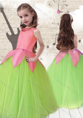Cheap Scoop Ball Gown Multi Color Little Girl Pageant Dresses