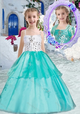 Sweet Ball Gown Little Girl Pageant Dresses with Appliques and Beading