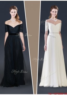 2016 Winter Perfect Empire Off the Shoulder Prom Dresses