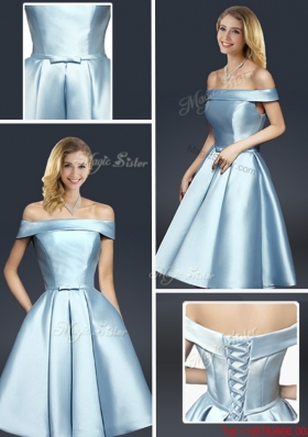 Fall A Line Knee Length Prom Dresses with Ruching