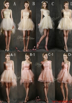 Hot Sale Mini Length Tulle Bulk Sale Dama Dresses with Belt