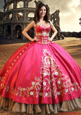 2017 Western Style Perfect Big Puffy Embroideried and Beaded Quinceanera Dress in Taffeta