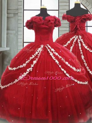 Sophisticated Tulle Sleeveless Quinceanera Gowns Brush Train and Appliques and Pick Ups