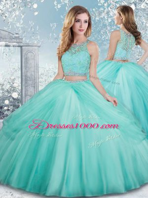 Sleeveless Beading and Lace Clasp Handle Vestidos de Quinceanera