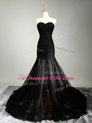 Affordable Sleeveless Lace Up Beading and Appliques Prom Dress